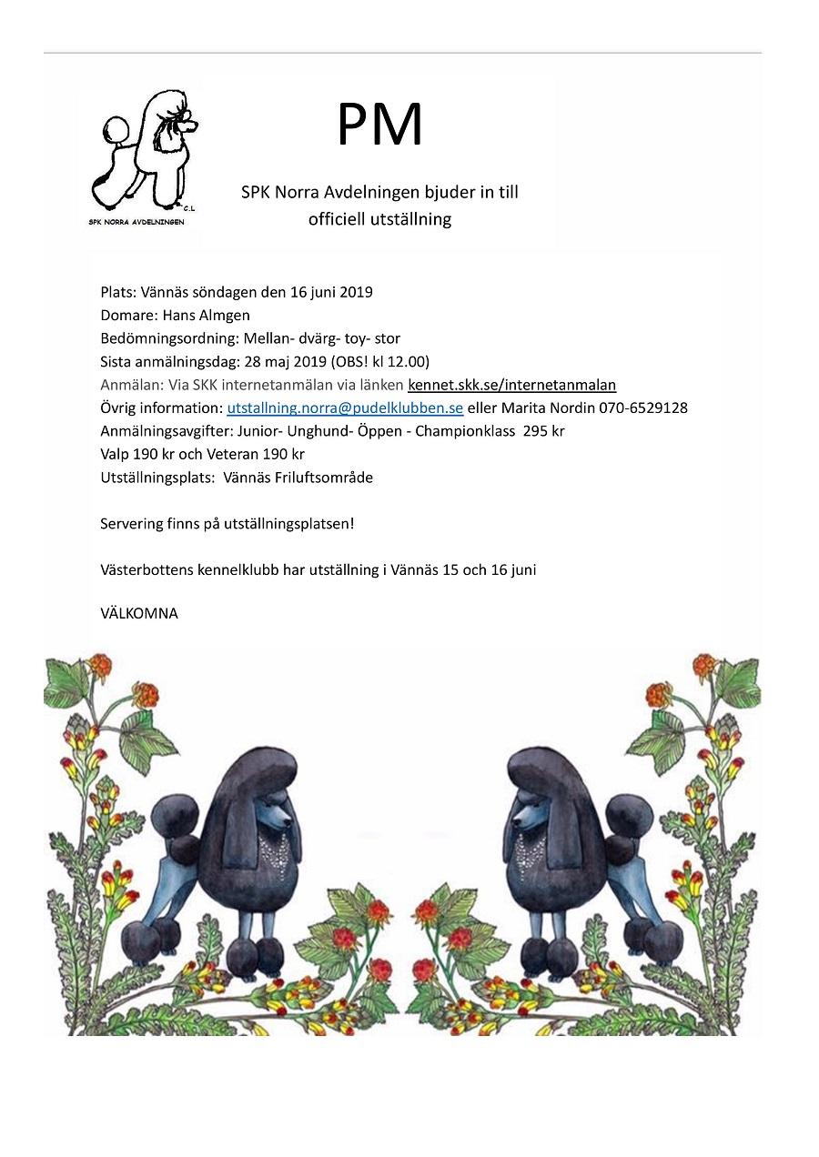 Välkommen till SPK norras utställning i Vännäs