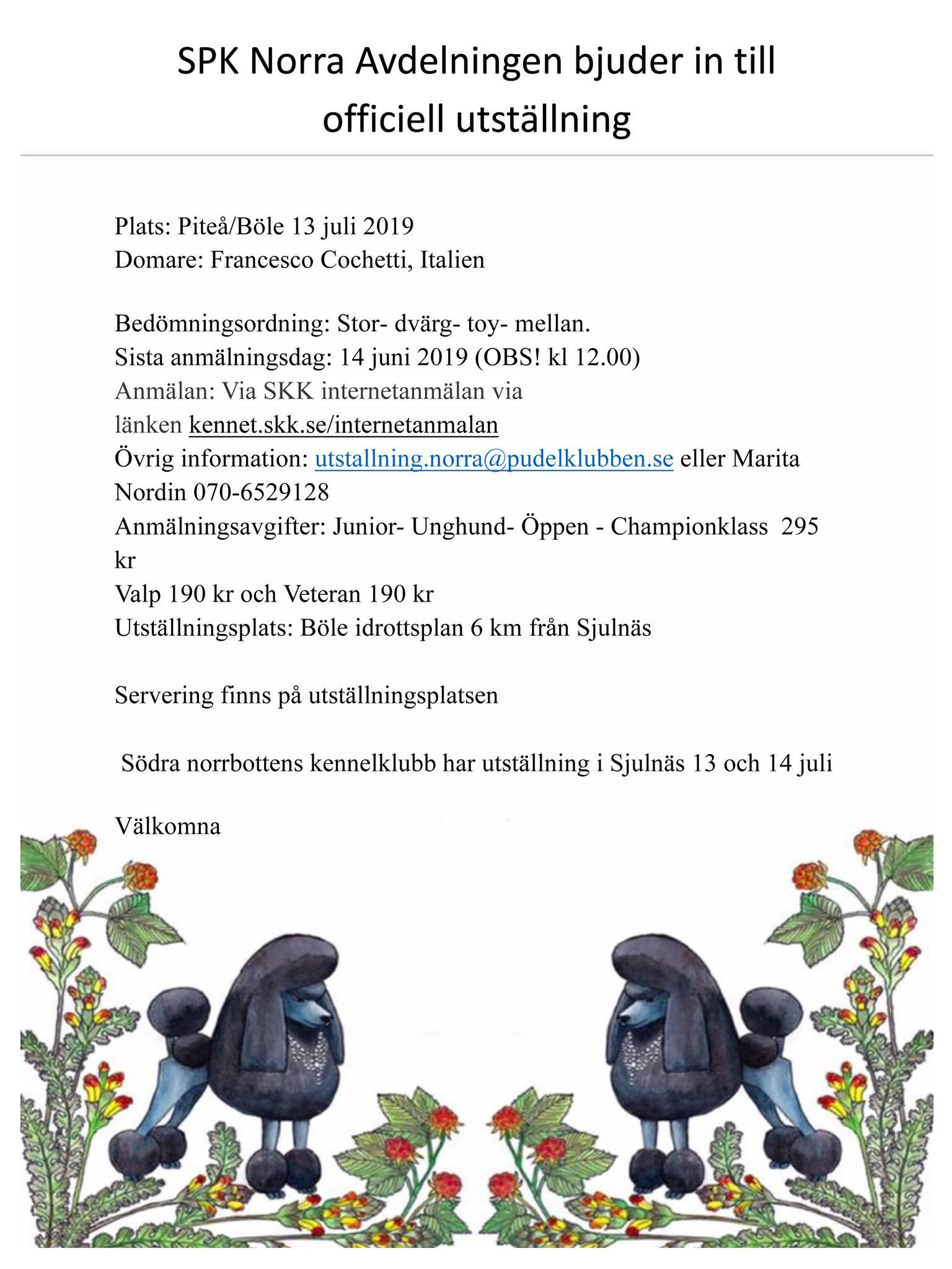 Välkommen till SPK norras utställning i Böle
